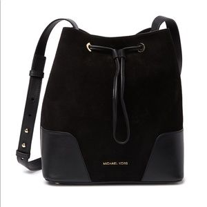 Michael Kors Suede Leather Bucket Bag